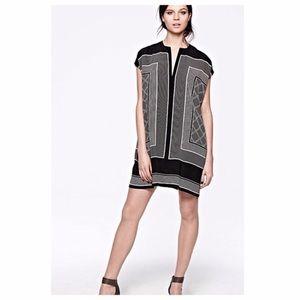 Vince Georgette silk scarf tunic dress xsmall